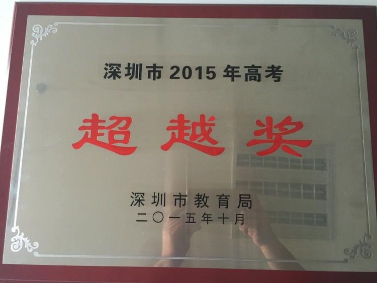 2015深圳市教育局高考超越奖